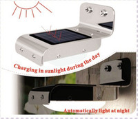 Wholesale 4pcs Solar Powered Lamp Outdoor LED Sound Human Motion Sensor Detector Light Outdoor Garden Hongkong post freeshipping