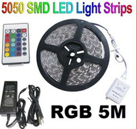 Wholesale RGB M SMD LED Strip lighting with key IR Remote Control Power AB2054