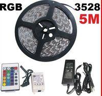 Wholesale RGB M SMD LED Strip Waterproof with Key IR Remote control Power AB2055