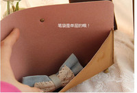 Leather Bag  Free Shipping NEW Fashion Vintage Paris Design Pencil Bag PU Leather Cosmetic Case Gift