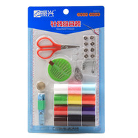 Wholesale Darn Tools Sewing Kit Needle Line Needlework Scissors Ruler Set