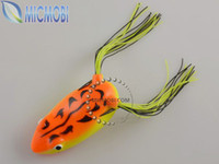 Wholesale cm g Frog Lures With Hooks Soft Fishing Bait Fishing Tackle FS