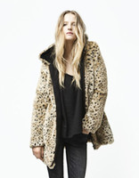 Wholesale Haoduoyi Women s Coat Outerwear leopard print overcoat leopard print fur coat woolen outerwear warm