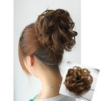 big hair buns - Ladies big curl hair buns hairpieces chignons colors drop shipping