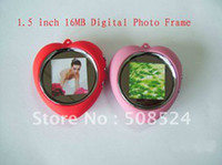 Wholesale Digital Photo Frame inch MB CSTN LCD Display Screen Keychain Heart shaped USB