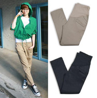 Wholesale 2012 new fashion elastic sateen pregnant maternity women capris leggings pencil pants jeans trousers