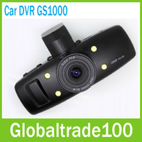 Wholesale Car DVR Black Box GS1000 Ambarella P quot LCD Wide Angel Built in GPS G sensor Via DHL