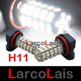 2pcs 68 LED H11 SMD 1210 Car Light Fog Bulb White 68-LED 3528 12V Auto Lights Bulbs
