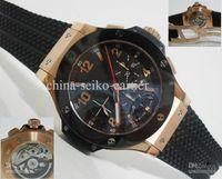 Men's Mechanical Analog New Luxury Automatic Men's Watch Rose Gold Ceramic Swiss Eta 7750 Wristwat Chronograph Mens Watches