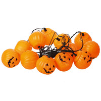 Wholesale Halloween pumpkin light string lamp lights Plastic pumpkin decorations