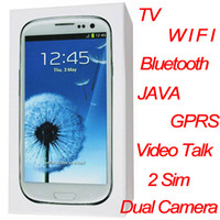 Wholesale 9300 unlocked phone Inch Screen Dual camera Sim Bluetooth TV WIFI Video Talk free case GB TF