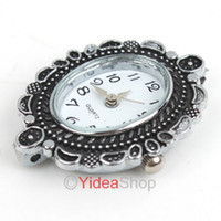 Wholesale 4pcs NEW Styles Silver Plated Watch Face Fit Link Chain Bracelet For Jewelry Making Findings