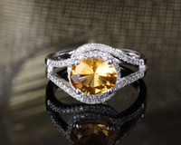 South American Women's Engagement Amazing,Fancy Jewelry Solid 14Kt White Gold Natural 0.52Ct Diamond CITRINE Ring