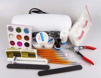 gel nail kit - Full Set High Quality UV Gel Nail Kit Free Gift Decoration Acrylic Tips For Nails Fashion DIY