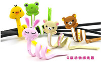 Wholesale Free via EMS Cute Winding wire container hub cute animal series long