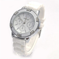 Wholesale 1PCS Newest Style Candy Geneva Watch Lady Fashion Quartz Watch High Quality