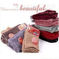 Wholesale Wool socks rabbit wool socks far infrared Winter Soft thicken warm socks Christmas gifts birthday