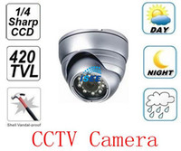 Wholesale Vandal proof Outdoor CCD TVL Dome Security Camera CCTV IR LED Night Vision camera