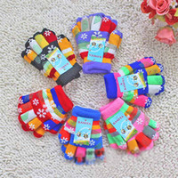 Wholesale Children s Cute Finger Gloves Child Products Kids Warm Gloves Boy and Girl Winter Mittens