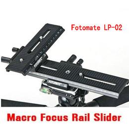 Wholesale Fotomate LP Way Macro Focus Rail Slider Tripod Plate Head Canon Nikon Sony Pentax Fotomate