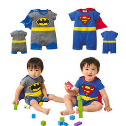 Wholesale 24 Superman Suit Fancy Dress SuperHero Costume for Baby Toddler Kid Boy Romper Gift