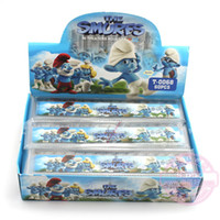 Wholesale The smurfs cartoon plastic office rulers novelty stationery christmas School Gift Ruler