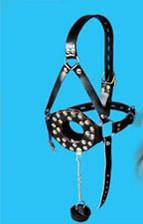 Wholesale Leather Female Harness Gag Open Mouth Bite Ring Gag Stopper w Cover Sex Slave Bondage Great BDSM Adult Game Gear JD461