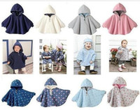 Wholesale baby cloak baby ourterwear Polka Dot coats baby clothing girls cape sweaters outfits smock