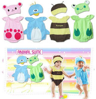 Wholesale Baby Animal Bodysuit hat Set Bee Rabbit Duck Creeper Onesie Christmas Romper Hat Hooded Rompers