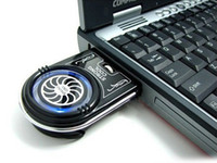 mini usb notebook fan - Mini Vacuum Case Cooler USB Cooling Fan for Laptop Notebook idea FYD Blue LED light free shippin