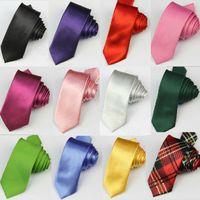 Wholesale New Fashion Solid Color Mens Neck Tie Plain Classic Men s Tie Necktie Wedding