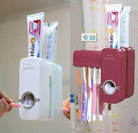 Wholesale Novelty Automatic Toothpaste Dispenser Toothbrush Holder Sets Toothbrush Family Sets