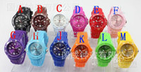 Wholesale 30PCS Colors Luxury Fashion Unisex Colorful Candy Jelly Watch Ladies Women s Men s Watches AA0