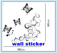 Wholesale Wall sticker Wall paster poster house decorative sticker with Butterfly pattern set vine butterfly cm cm