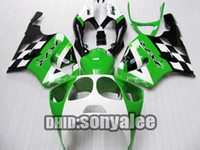 Wholesale Black green A118 fairing kit For KAWASAKI ZX R ZX7R ZX R