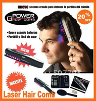 Wholesale New Hot Power Grow Comb Laser Hair Comb Breakthrough Hair LASER Treatment Brand DHL