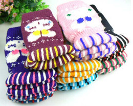 Wholesale Kids Winter Warm Lovely Rabbit head half mittens Children s Mittens Baby Gloves Baby items