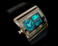 Wholesale OHSEN Stop Chrono Alarm Digital Analog Mens Sports Wrist Watch New Black Nice Xmas Gift