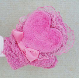 Wholesale Baby Coral fleece love Gloves Kids Children s Fingerless Gloves Toddlers Warm Mitten