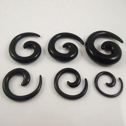 120pcs black color Ear Expander ear plug UV flesh tunnel piercing body Jewelry