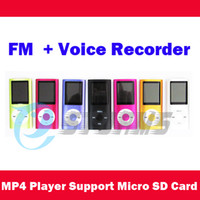 Wholesale 1 Screen MP3 MP4 Player support Micro SD Card max GB FM Voice Recorder Speaker