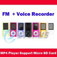 Wholesale 1 Screen MP3 MP4 Player support Micro SD Card max GB FM Voice Recorder Speaker
