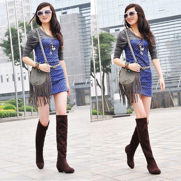 New Womens/Ladies Black Firetrap Low Heel Fashion Boots. - Black - UK 3