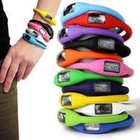 Wholesale 40pcs Women s men anion watches girl boy sport Anion Negative Ion Silicone LED Bracelet HOT