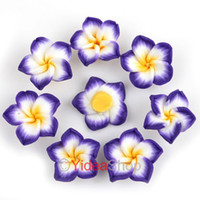 Wholesale 320pcs Purple Flower Fimo Polymer Clay Spacer Charm Beads mm