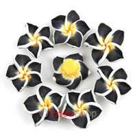 Wholesale 320pcs Black Flower Fimo Polymer Clay Spacer Charm Beads mm Fit Jewelry DIY