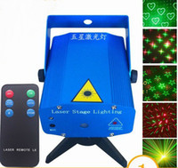 Wholesale New Mini Red And Green Moving Party Laser Stage Light Projector AC V Open herding