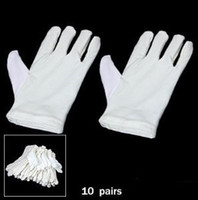 Wholesale 10 Pairs of Ladies Inspection Cotton Gloves White