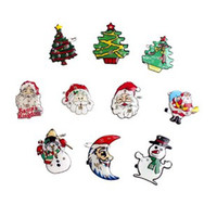 Wholesale Christmas Decorations LED Flashing Brooch Glowing Breastpin Santa Claus Various brooch badge gifts