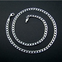 Wholesale Hot Sale High Qulity Mens Silver Chain Curb Charm Mental Chain Two Style spdl1